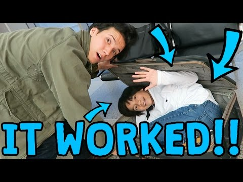 SNUCK MY BROTHER ON AIRPLANE!!