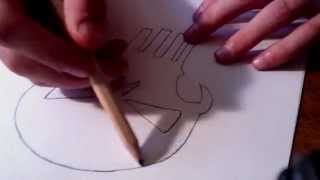 How to Draw the Punisher Skull (simple)