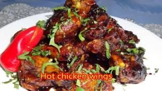 Sweet spicy & Pomegranate Sauce chicken wings            بال کباب با رب انار