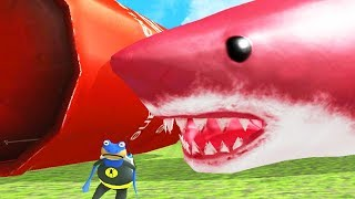 NEW RED GIANT SHARK vs NEW GIANT EXPLODING TANK! - Amazing Frog - Part 131 | Pungence