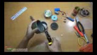 How to Make Mini Super Powerful Air Blower using Cans Fish 144p