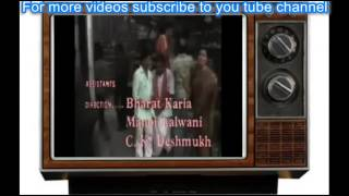 """Title song of the old TV serial """"Nukkar """"......"""