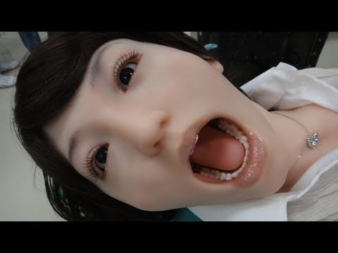 Ultra realistic Dental Training Android Robot Showa Hanako 2 DigInfo
