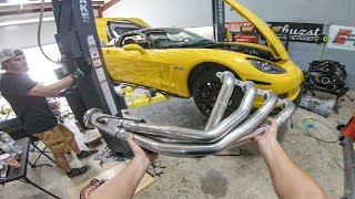 LéMon the Corvette gets a HUGE exhaust upgrade   Corsa Exhaust Install