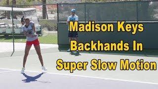 Madison Keys Backhands In Super Slow Motion - BNP Paribas Open 2013