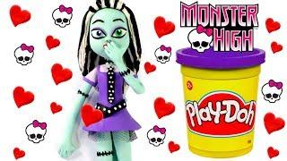 Monster High Play Doh Cartoon Stop Motion Hello Kitty Frozen Elsa & More!