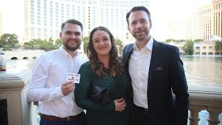 Girl from England gets the surprise of her life through magic at the Bellagio Fountains