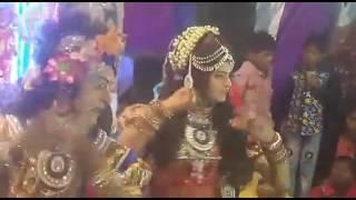 New Radha Krishna Jhanki in Delhi Jagran Night /angli marodi mera challa tooda ri live video recding