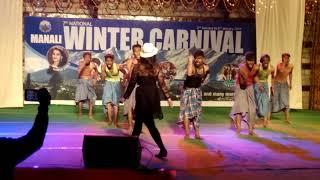 HUM KAALE HAIN TO KYA HUA DIL WAALE HAIN# 2ND PRIZE IN NATIONAL WINTER CARNIVAL MANALI OLD FILM DANC