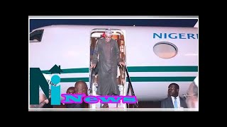 After much speculations, Buhari finally arrives Nigeria, lands in Abuja