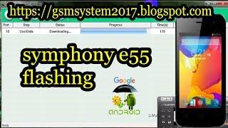 symphony e55 flashing