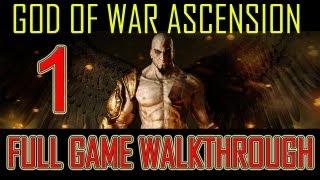 God of War Ascension - walkthrough part 1 let's play gameplay Full Game god of war 4 ps3