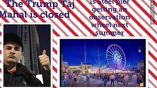 Mikey Caps Atlantic City boardwalk update... Taj Mahal and Showboat up close!