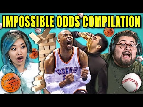 Adults React To Impossible Odds Compilation Never Tell Me The Odds