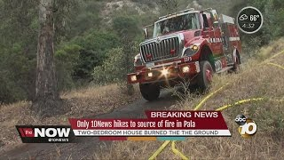 Only 10News hikes to source of fire