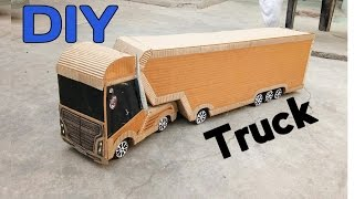 How To Make a RC Truck   DIY Cardboard Container Truck at home