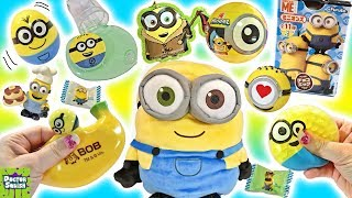 BIG MINION SHOW! Minion Squishy Toys Slime & Chocolate Surprise Eggs Doctor Squish