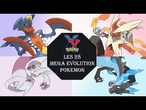 Les 28 Mega Evolutions Pokémon X And Y