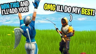 I Told This Kid If We WIN THIS GAME I Would ADD HIM On Fortnite... (he WENT HAM)