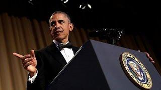 Obamas Seitenhiebe gegen Trump und Clinton beim Korrespondenten-Dinner