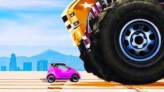 INDESTRUCTIBLE CAR vs. MINI CAR! (GTA 5 Funny Moments)