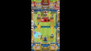 "Clash Royale ""Super Hog Rider"" For The Win"