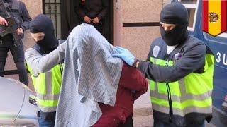 Terrorism in Spain: Police arrest 7 men for sending guns, bomb materials to ISIS - TomoNews