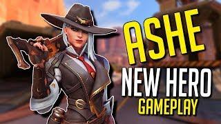 ASHE NEW HERO GAMEPLAY! - Overwatch (BlizzCon 2018)