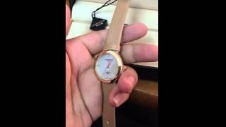 Akribos XXIV Women's AK687PK Impeccable Swiss Quartz Diamond Mother of Pearl Satin Strap Watch