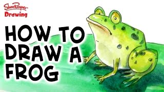 How to draw and paint a frog in watercolor