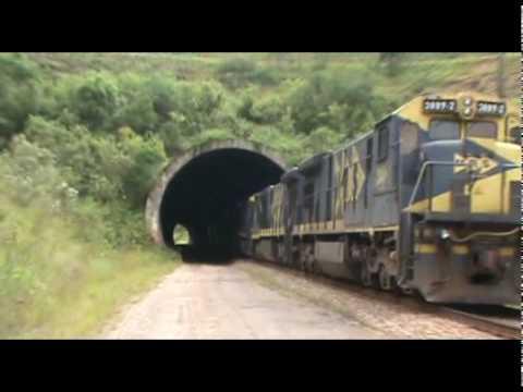 MRS Trem Locomotivas escoteiras na Ferrovia do Aço
