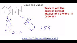 Dices and Cubes Verbal and Non-verbal Reasoning problems | Team MAST