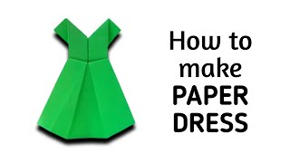 How to make an origami paper dress - 1 | Origami / Paper Folding Craft, Videos and Tutorials.