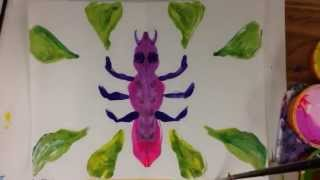 Science and Art for Kids: Paint Insects in Symmetry