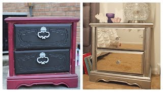 DIY Mirror Nightstand! $4 Dresser Revamp + IKEA rant!! 😤🙅🏾