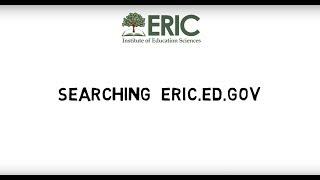 Searching eric.ed.gov