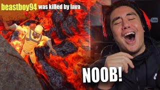 I FOUND ONLINE PLAYERS WORSE THAN ME AT THIS | Hot Lava (FLOOR IS LAVA GAME)
