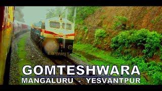 Mangaluru - Yesvantpur GOMTESHWARA EXPRESS | 5 EMD Locos Drenched In Rain |  Best Crossing Ever