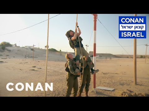 Conan Trains With The Women Of The Israel Defense Forces CONAN on TBS