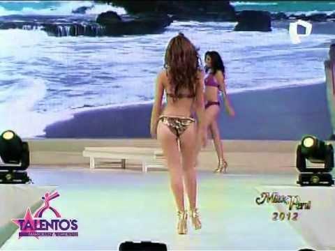 Miss Perú 2012 Desfile en de candidatas en traje de baño Talentos 30 06 2012