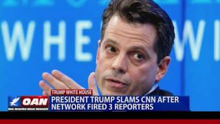 Pres. Trump Slams CNN After Network Fired 3 Reporters