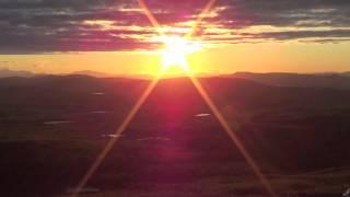 Midnight sun in Kiruna, Sweden