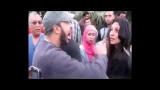 اخواني يشخر لبنت امام مقر الإخوان في المقطم