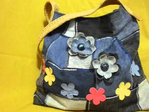 bolsas artesanais em jeans