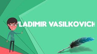 What is Vladimir Vasilkovich?, Explain Vladimir Vasilkovich, Define Vladimir Vasilkovich