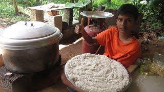 Village food factory /BIG Idiyappam - Chutney Cooking by my Family in my village / village cooking