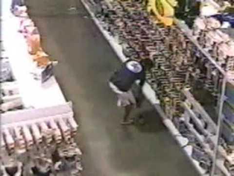 Flagrantes de furto em supermercados pelas cameras de segurança