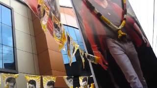 Anjaan Tamil Film Crowd pulling in a Theater in Kerala