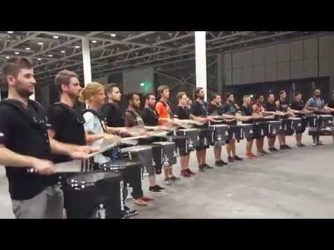 Top Secret Drum Corps of Basel meets the Blue Devil Percussion Team of Concorde California