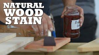DIY Natural Wood Stains